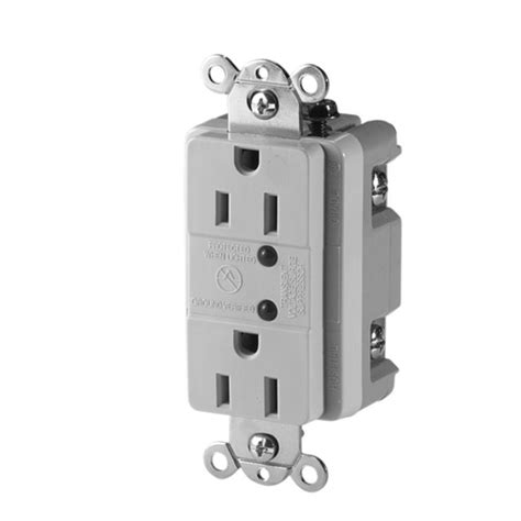 eaton commercial grade 15 duplex receptacle with led