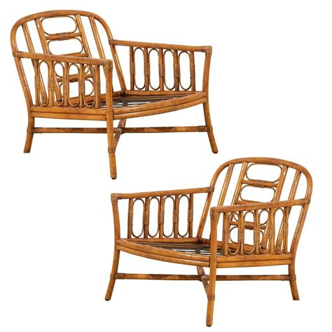 Ficks Reed Chair by Lovely Pair Of Vintage Loungers By Ficks Reed For Sale At