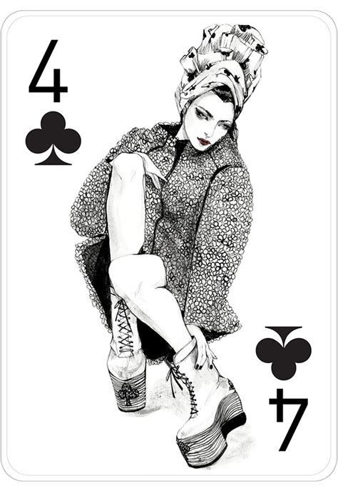 fashion playing cards by connie lim on behance