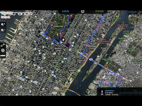 imagenes satelitales gps maraton new york strands retransmite en directo la