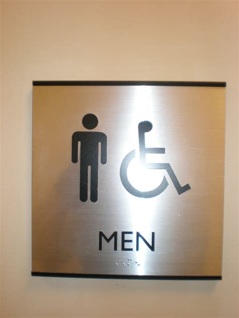 Metal Bathroom Signs by More Signage