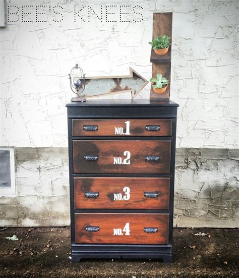 chalk paint that looks like stain bee s knees chest in black pepper general finishes