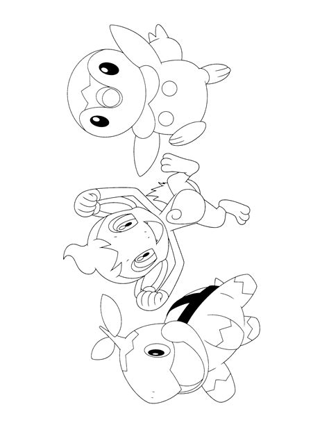 pokemon turtwig coloring pages images pokemon images
