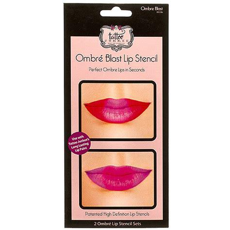 tattoo junkee retailers tattoo junkee ombre blast lip stencils 2 count walmart com