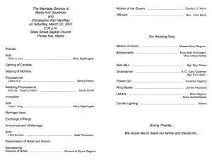 Traditional Wedding Program Templates by Ten Best Wedding Program Templates Bestbride101