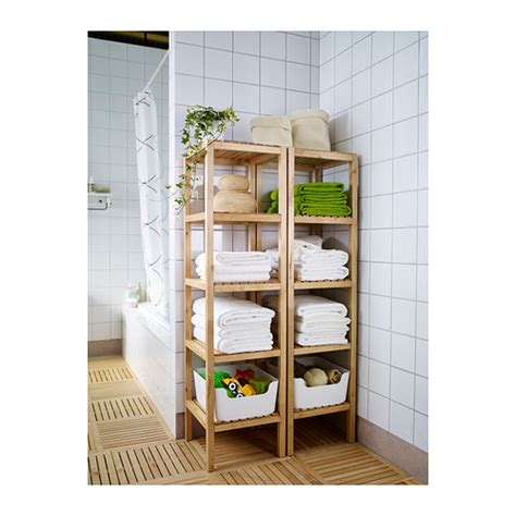 molger shelf unit birch birch open shelves and shelves