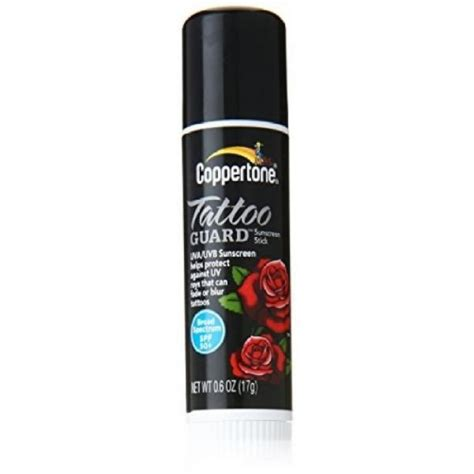 coppertone tattoo guard lotion review coppertone spf 50 tattoo guard stick reviews