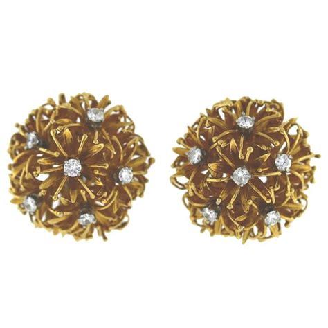 Earrings Dandelion 1 david webb gold dandelion earrings for sale at 1stdibs