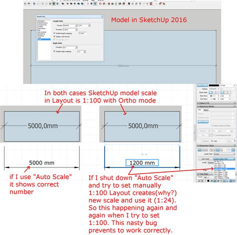 sketchup layout dimension scale dimension scale bug in layout 2016 layout sketchup