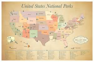 united states map of national parks us national parks push pin map adventure map push pin