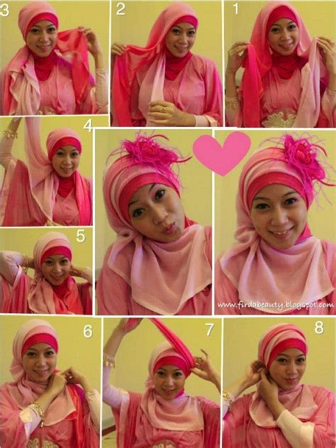 tutorial jilbab paris simple untuk pesta simple tutorial hijab segi empat 2015 hijabiworld