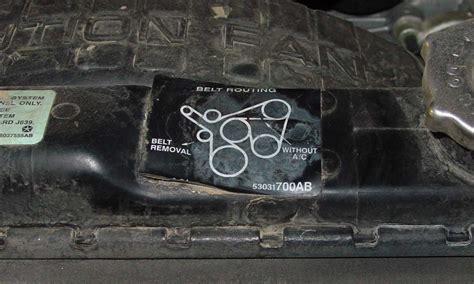 serpentine belt tension   jeepforumcom
