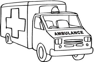ambulance coloring pages ambulance pictures cliparts co