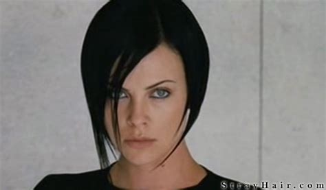 aeon flux black s hairstyle hair marvelous pigs in satin