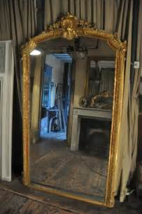 miroir ancien cadre feuille or louis xv
