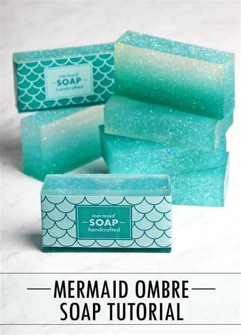 mermaid tutorial how to make ombre mermaid soap mermaid tutorials and bath