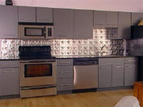how to do backsplash in kitchen how to create a tin tile backsplash hgtv