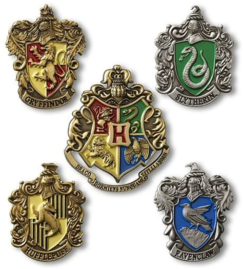 houses of harry potter harry potter hogwarts house crest pin set