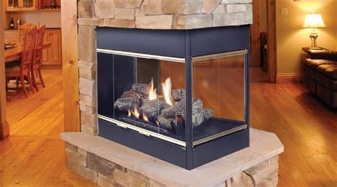 prodigy 3 sided fireplace by majestic fireplaces
