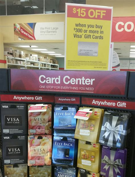 Best Buy Multiple Gift Cards - 15 off 300 purchase of visa gift cards at officemax office depot