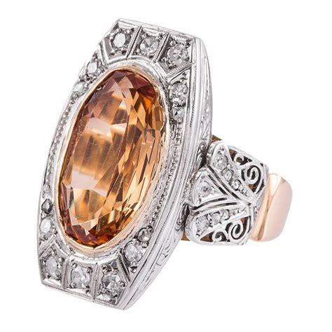 1910 antique edwardian 6 carat imperial precious topaz