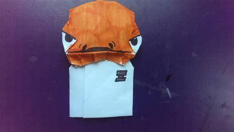 Origami Admiral Ackbar - happy wars day admiral ackbar master folder grievous
