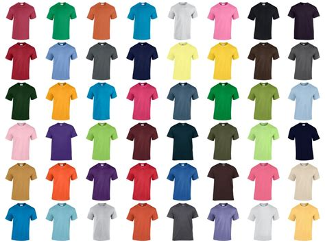 gildan tshirt colors gd05 gildan heavy cotton t shirt pb leisurewear