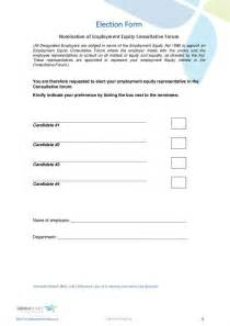 ee nomination form document labour law south africa
