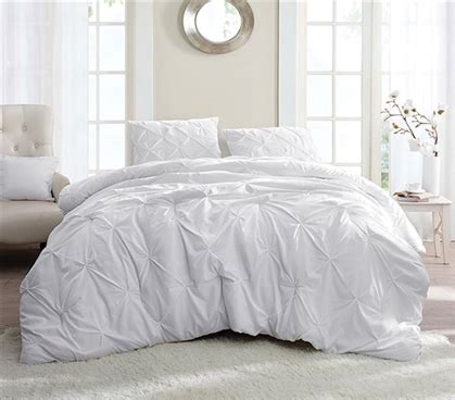 white comforter twin xl white pin tuck twin xl comforter
