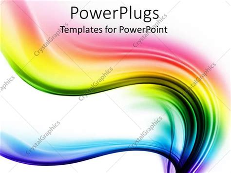 Powerpoint Template Spectrum Waves Of Different Colors On Different Powerpoint Templates