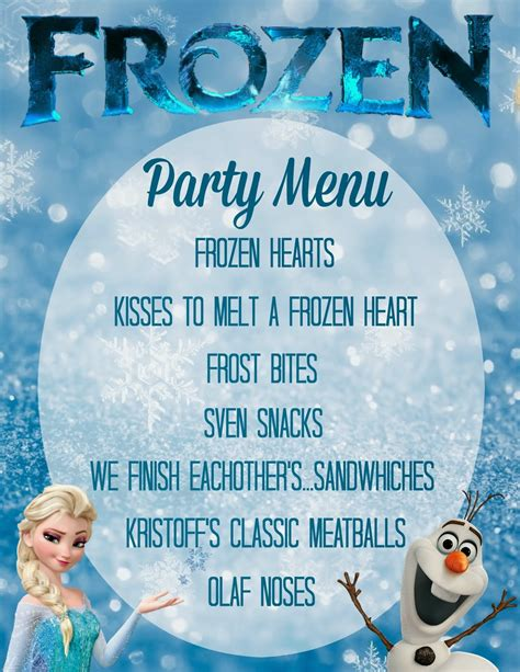 birthday menu template orchard free frozen birthday invitations and