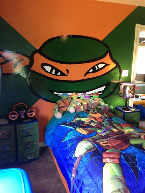 ninja themed bedroom ninja turtle bedroom with handmade turtle face kids