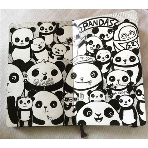 doodle panda panda pen drawing doodle on instagram