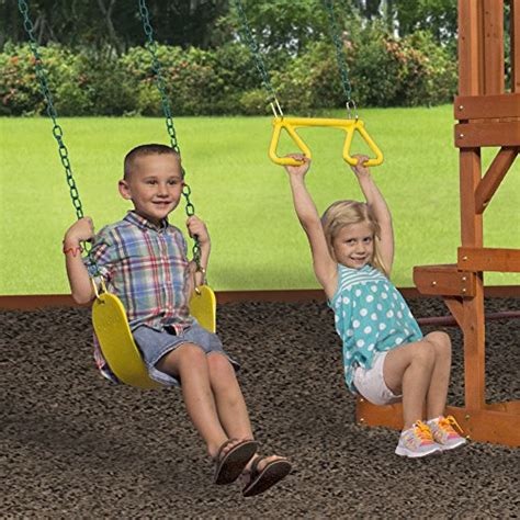 Backyard Discovery Tucson Cedar Wooden Swing Set by Backyard Discovery Tucson All Cedar Wood Playset Swing Set