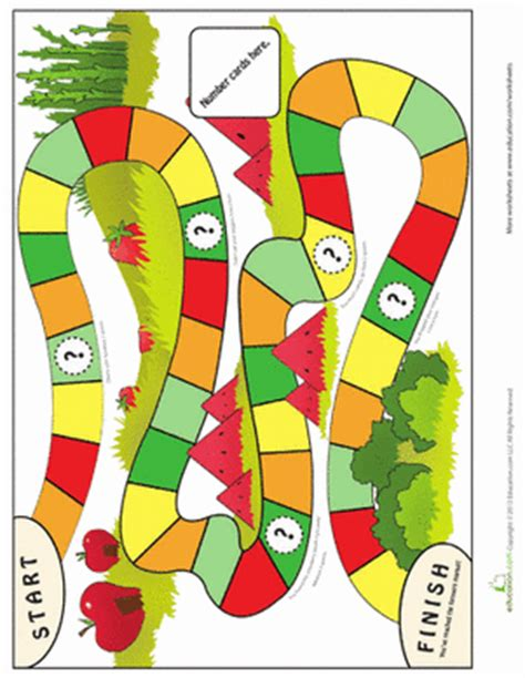 printable math board games kindergarten simple board game worksheet education com