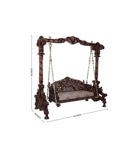 jhula swing buy hand carved traditional drawing room swing from teak