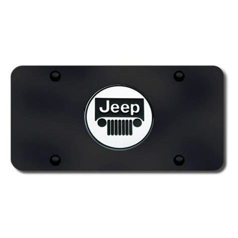 jeep logo black autogold 174 jee cb jeep logo on black license plate
