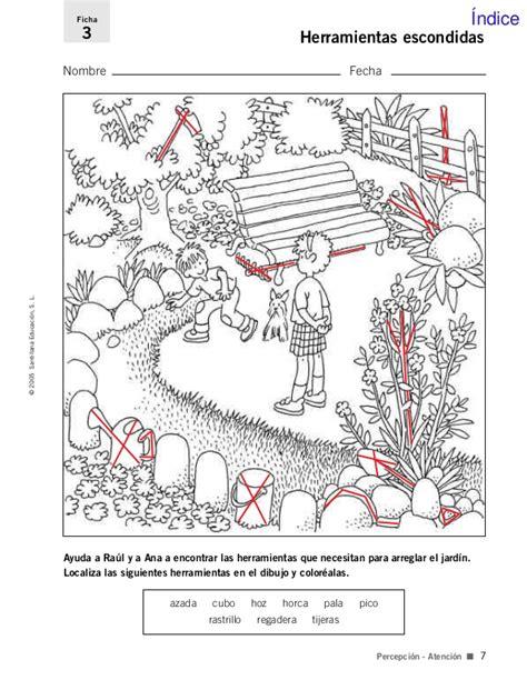 imagenes ocultas entre otras fichas para el desarrollo de la inteligencia 3