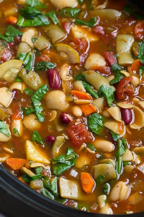 Olive Garden Minestrone Soup Copycat Slow Cooker Olive Garden Vegetable Soup