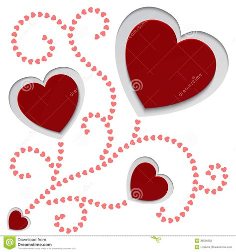 design your own valentines card paper hearts valentines day card royalty free stock