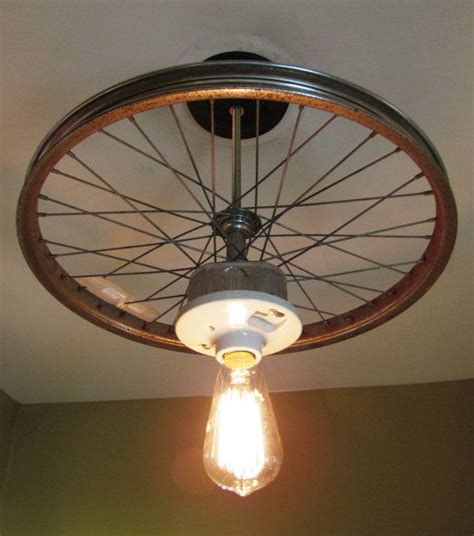 hanging ceiling light   repurposed bike tire rim home stuff hanging ceiling lights