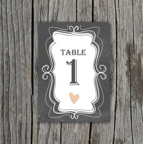 Diy Printable Chalkboard Table Numbers By Themunch On Etsy