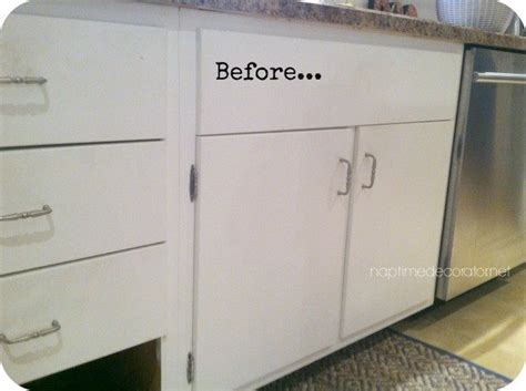 Add Moulding To Kitchen Cabinets Adding Trim To 1960s Cabinets Hometalk