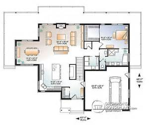Open Floor Plans With Basement House Plan W3967 Detail From Drummondhouseplans
