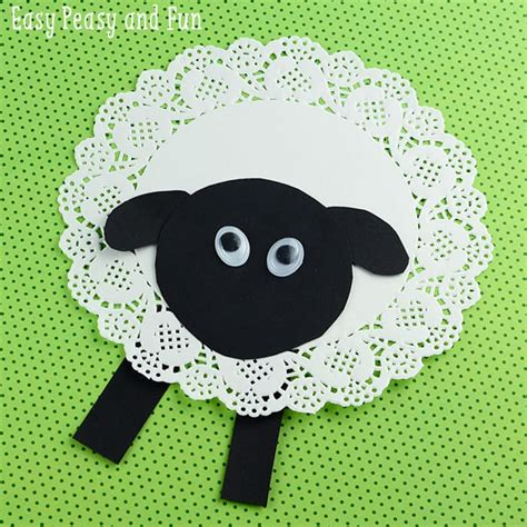 sheep crafts for doily sheep craft easy peasy and