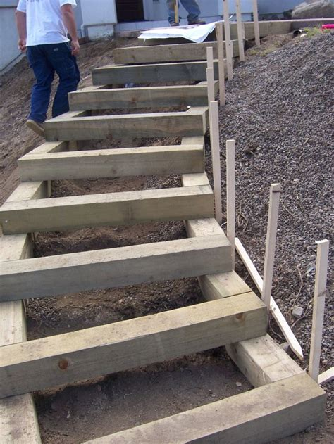 the 2 minute gardener garden elements landscape timber 1000 images about outdoor wooden stairs pathways on