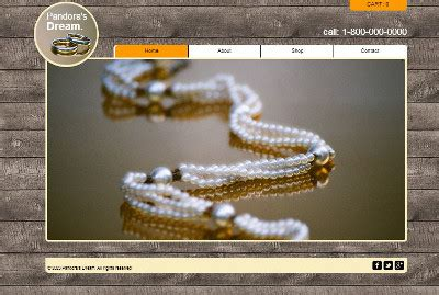 Ecommerce Website Templates Handcrafted Jewelry Website Templates