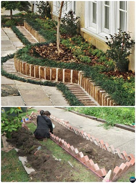 Border Garden Ideas Creative Garden Bed Edging Ideas Projects
