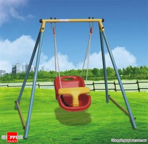 outdoor swing baby indoor outdoor baby toddler swing set for age 6 months
