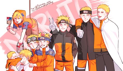 naruto throughout the years by pposong on deviantart